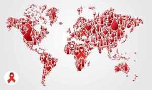 Representaão meramente ilustrativa do HIV no Mundo