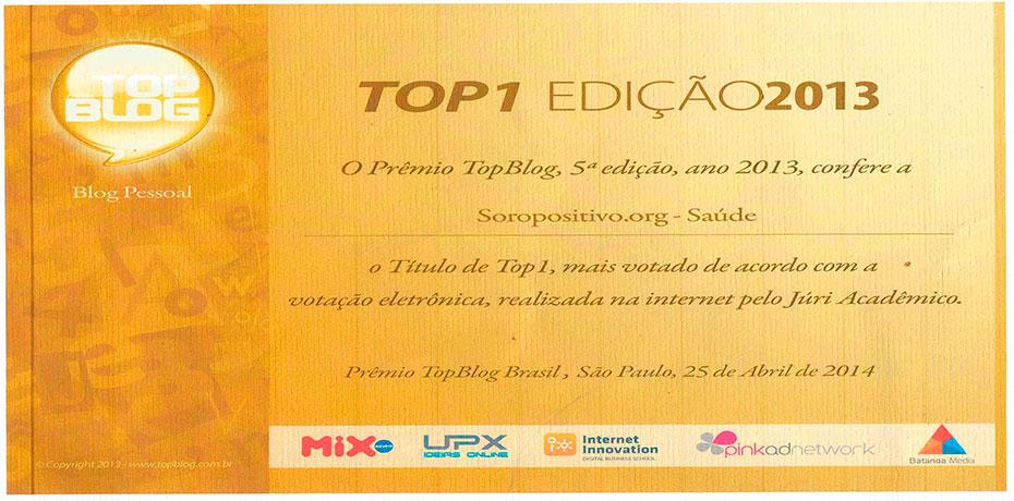 Soropositivo Web Site Top Blog Br 1º Lugar, Juri academico 2013/2014