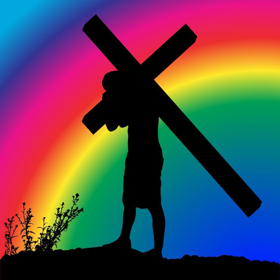 silueta na cruz