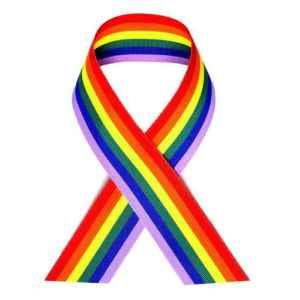 Laço para o respeito ao movimento contra a homofobia