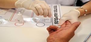 teste rápido para a AIDS