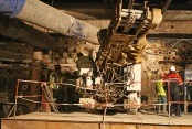 Construction of the tunnel, drilling rig works