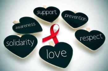 red ribbon for the fight against AIDS