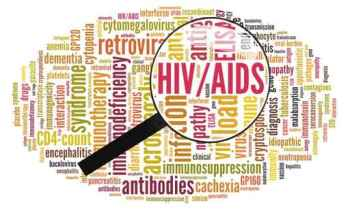 Word cloud of HIV/AIDS