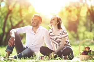 Casal sorodiscordante no parque