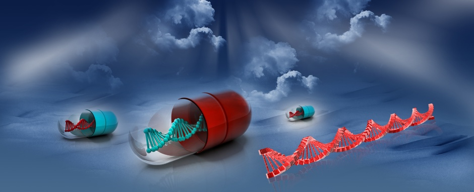 DNA with capsule