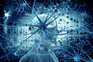 Neurons and man natural background