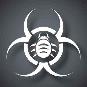 Vector biohazard virus icon