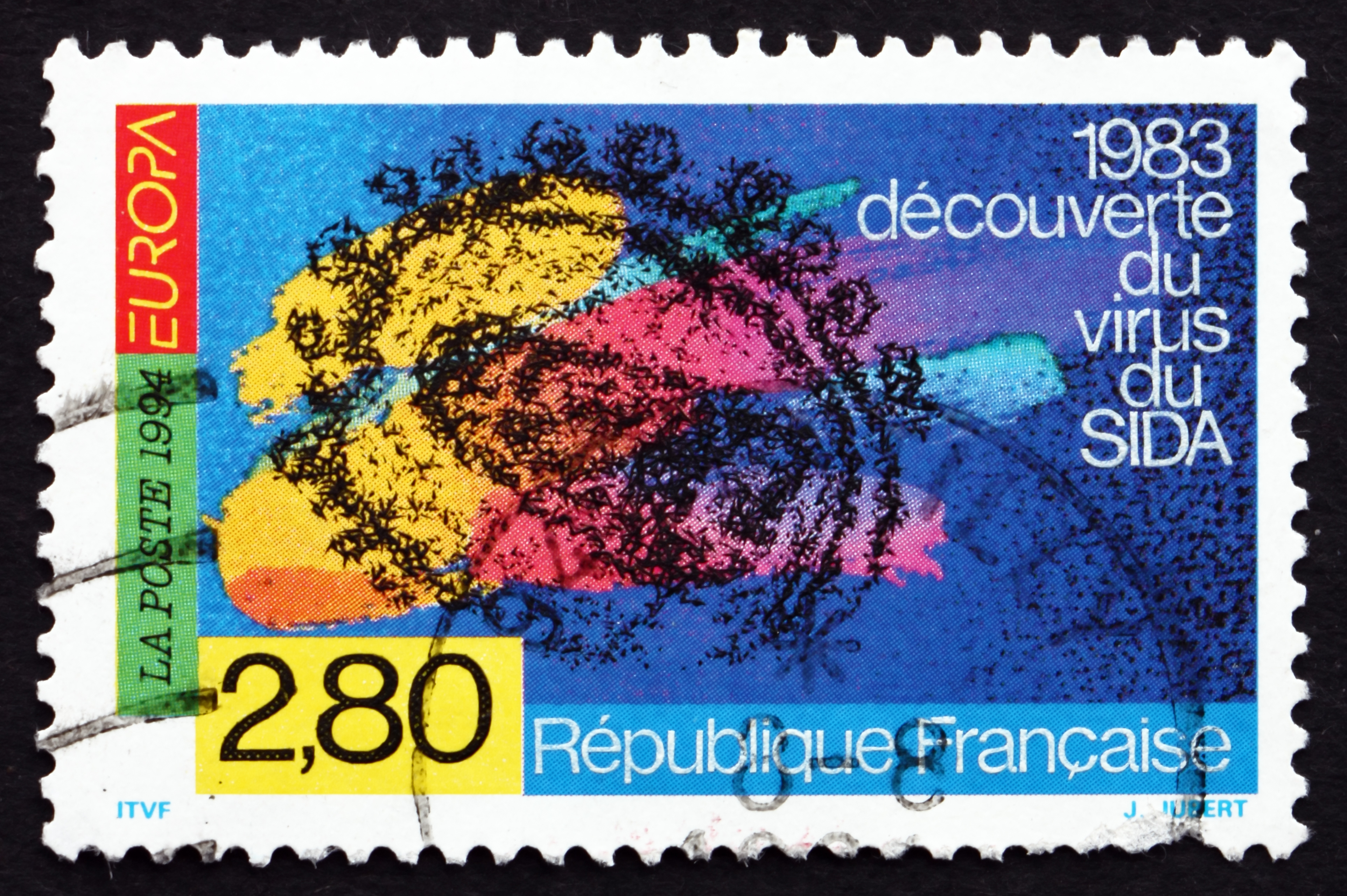 timbres poste france 1994 d couverte du r actif du virus du sida n 39 est pas une condamnation. Black Bedroom Furniture Sets. Home Design Ideas