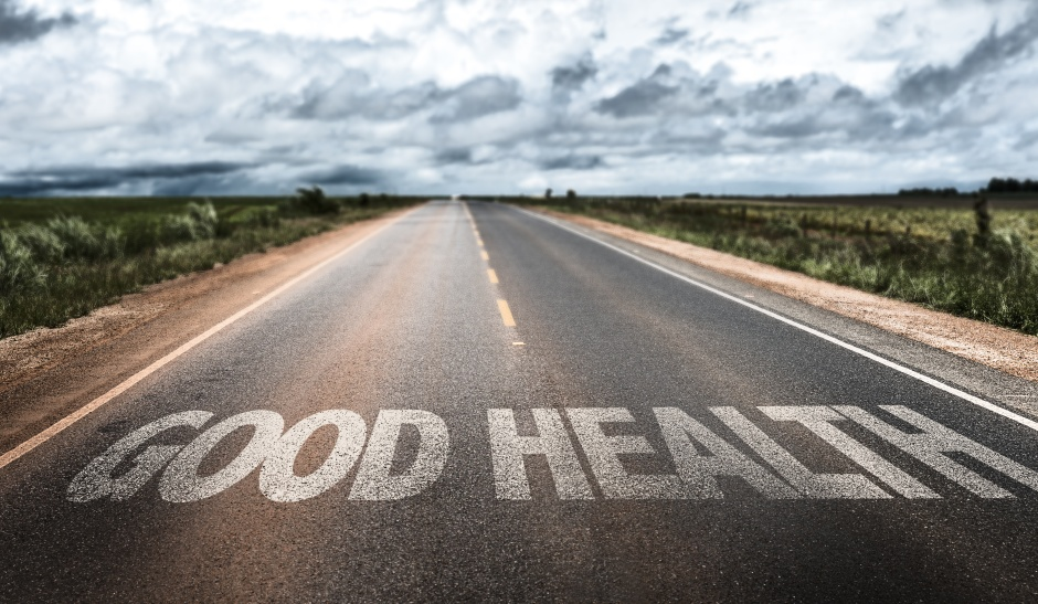 Good Health written on rural road