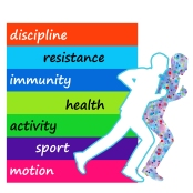 Graphic symbol of a healthy lifestyle