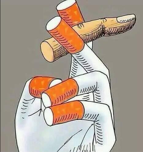 vinger sigaar