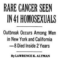 סרטן נדיר בארבעים ואחת הומוסקסואלים